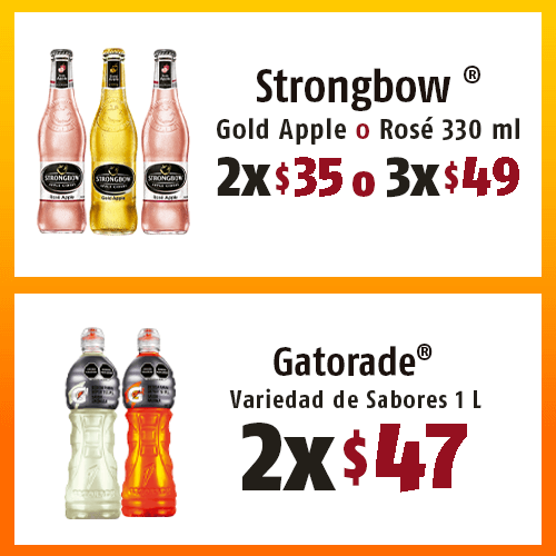 OXXO Action Button Strongbow Gatorade