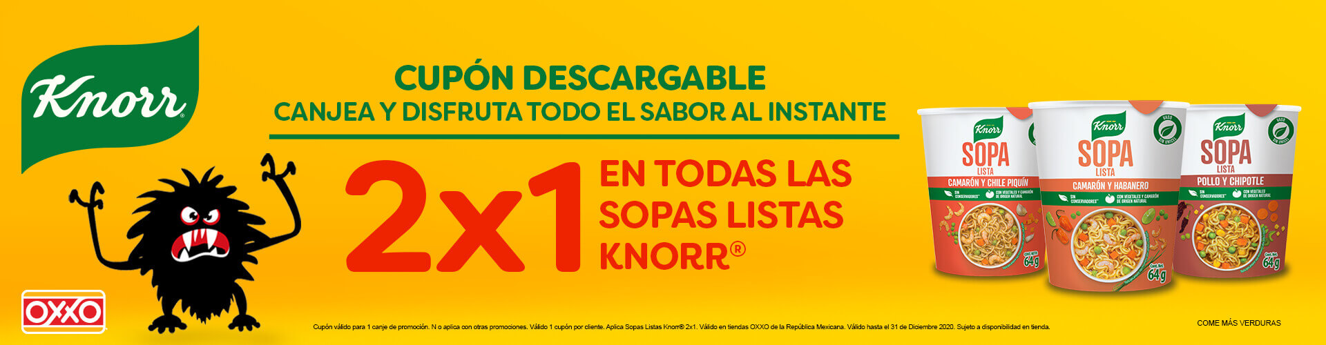 OXXO Cupones Knorr P12 2020