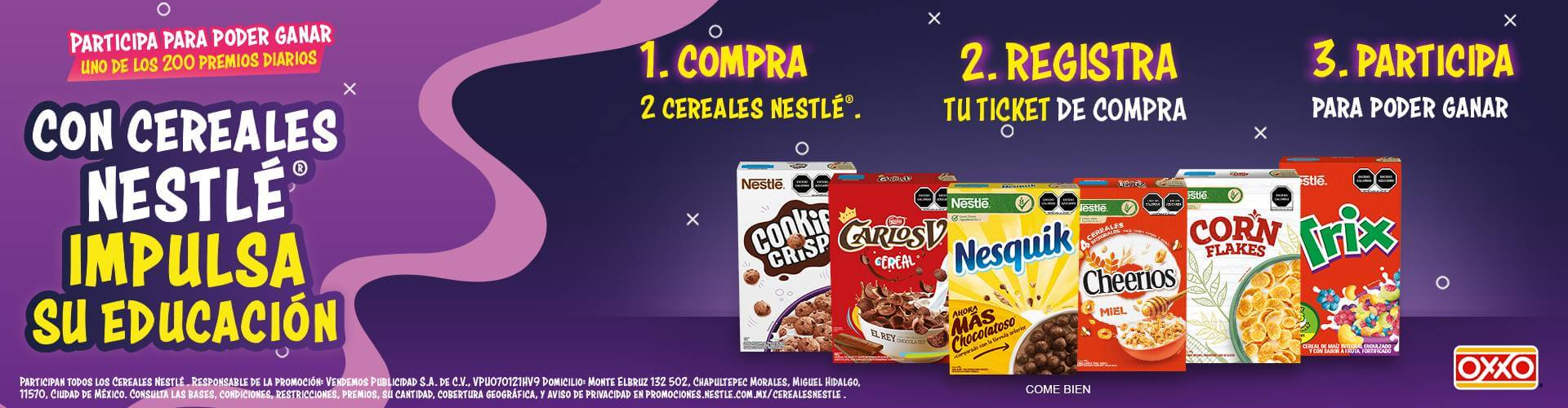 OXXO Home Cereales Nestle P8 2021