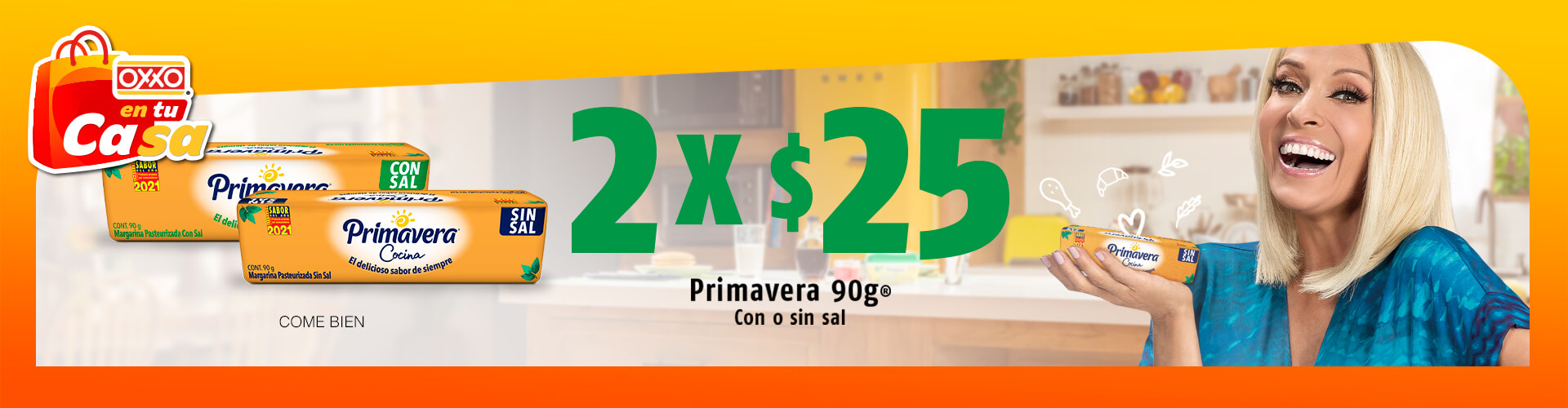 OXXO Promociones Margarina Primavera P5 2021