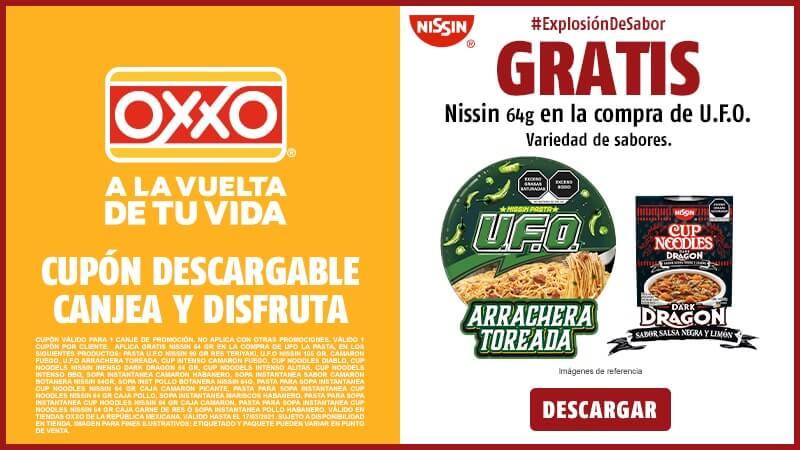 Cupon Gratis pasta UFO en la compra de Nissin 64 gr.