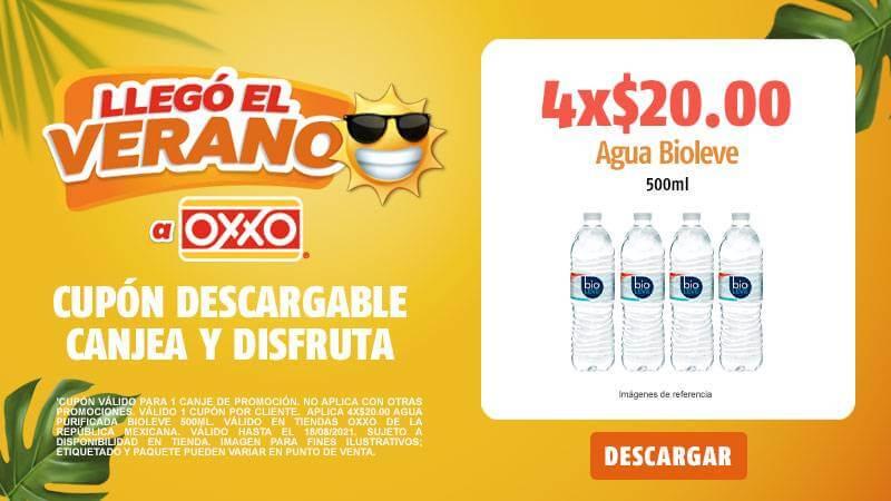 Cupon P8 2021 4x20 Agua Bioleve 500ml