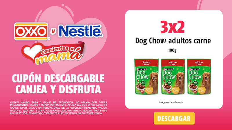 Cupon 3x2 DOG CHOW Adultos Carne 100gr