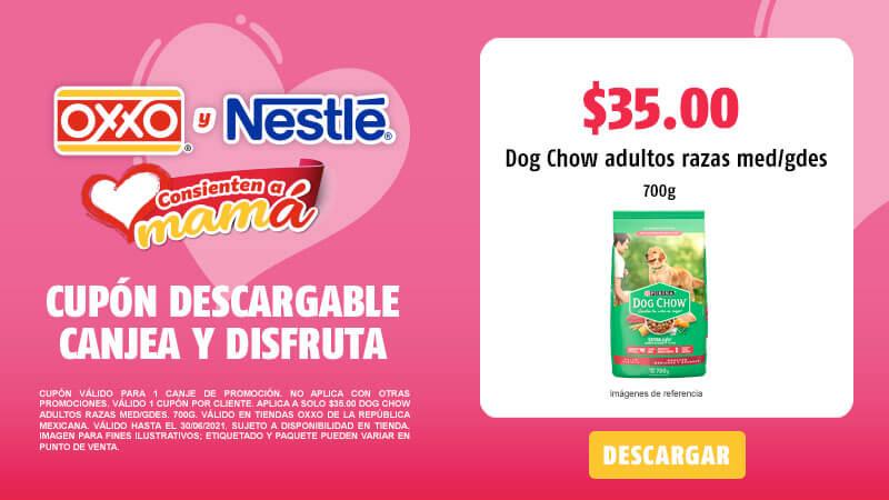 Cupon A solo $35.00 DOG CHOW Adultos Razas Med-Gdes. 700g