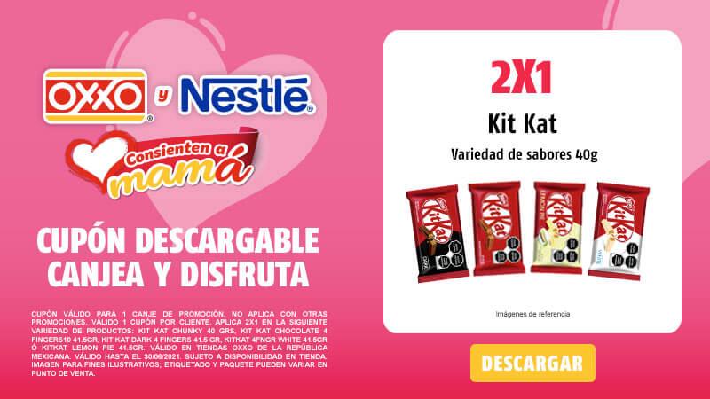 Cupon 2X1 Kit Kat 40grs Variedad de sabores