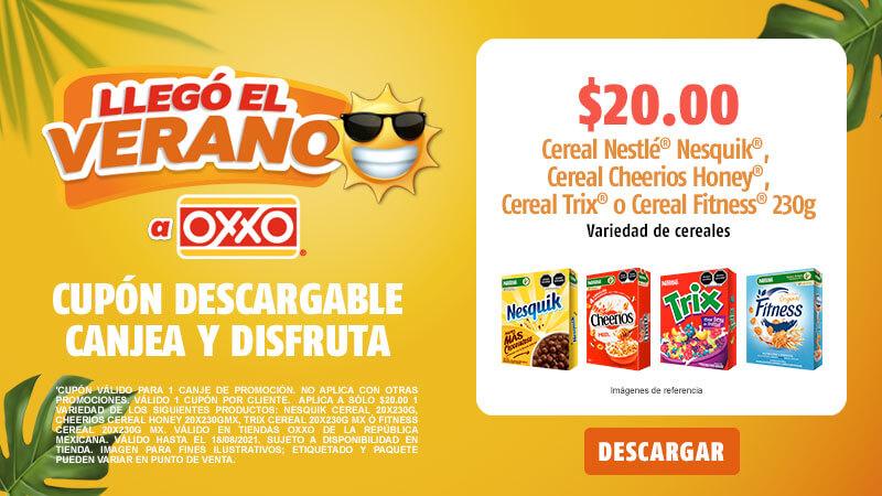 Cupon P8 2021 Cereales Nestle Nesquik Cereal Cheerios Honey Cereal Trix o Cereal Fitness Variedad de cereales