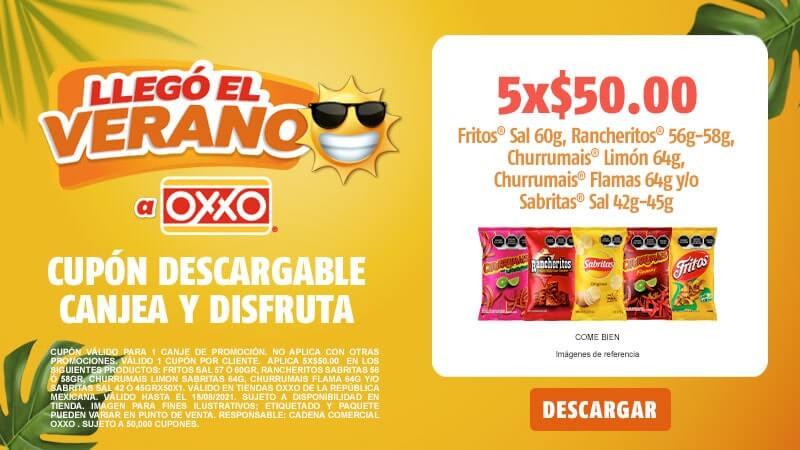 Cupon P8 2021 5X50  Fritos Rancheritos o Churrumais o Sabritas