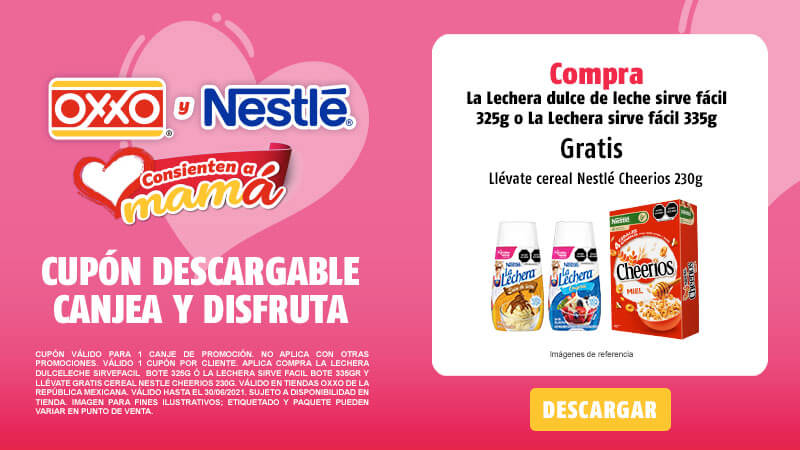 Cupon Compra La Lechera DulceLeche SirveFacil 325g ó La Lechera Sirve Facil 335gr y llévate gratis Cereal Nestle Cheerios 230g