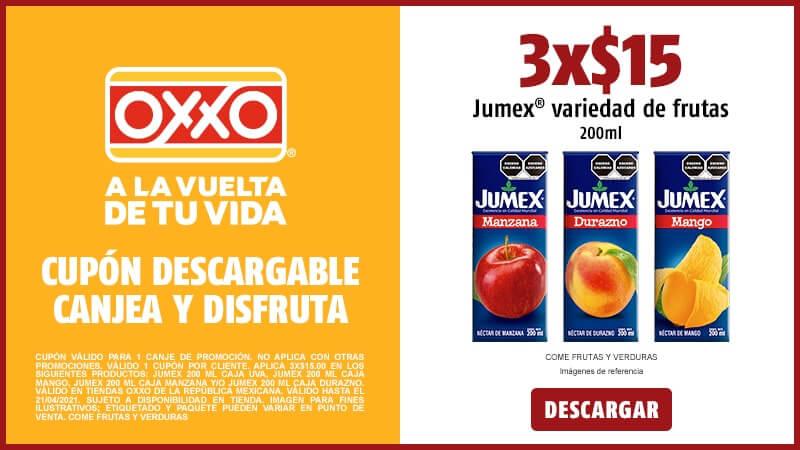 Cupon 3X$15 Jumex 200ml Variedad de Frutas