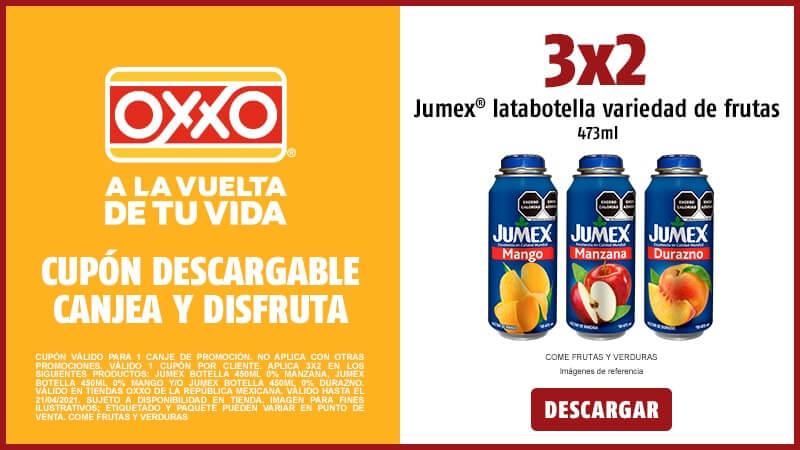 Cupon 3X2 Jumex Latabotella 473ml Variedad de Frutas