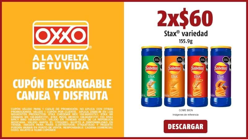 Cupon 2X$60 Stax variedad 155.9GR COME BIEN