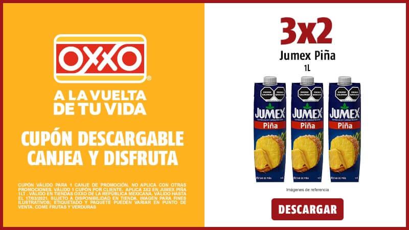 Cupon 3x2 JUMEX PIÑA 1LT