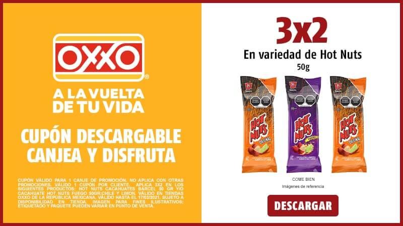 Cupon 3X2 en Variedad de Hot Nuts 50gr
