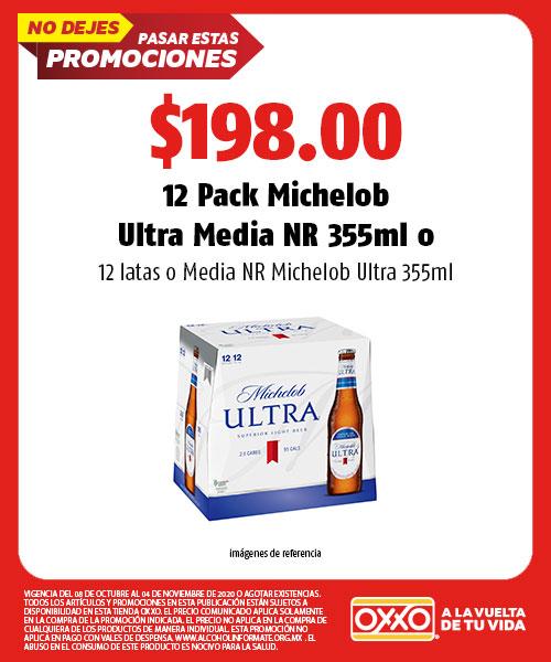 12 Pack Michelob Ultra Media NR 355ml o