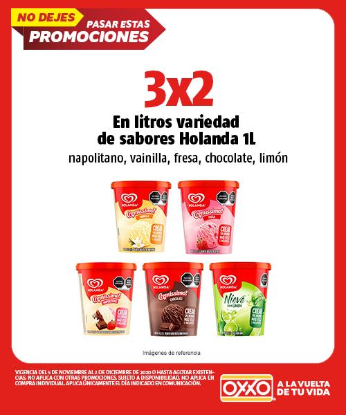 Promocion 3x2 en Litros Variedad de Sabores Holanda 1lt