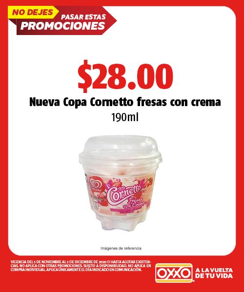 Nueva Copa Cornetto Fresas con Crema
