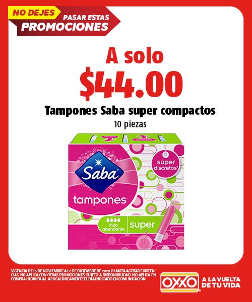 Tampones Saba Super Compactos