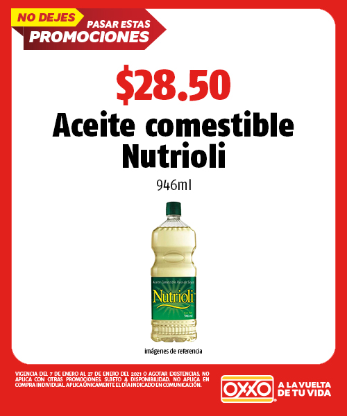 Aceite comestible Nutrioli