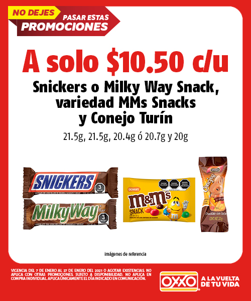 Snickers 21.5g ó Milky Way Snack 22gr,