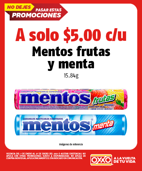 Mentos Frutas y Menta 15.84 gr
