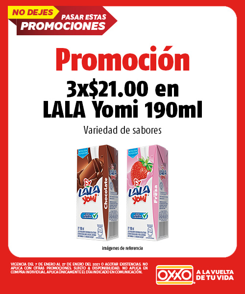 3 x $21.00 en LALA Yomi 190 ml