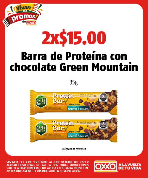 Barra de Proteína con chocolate Green Mountain