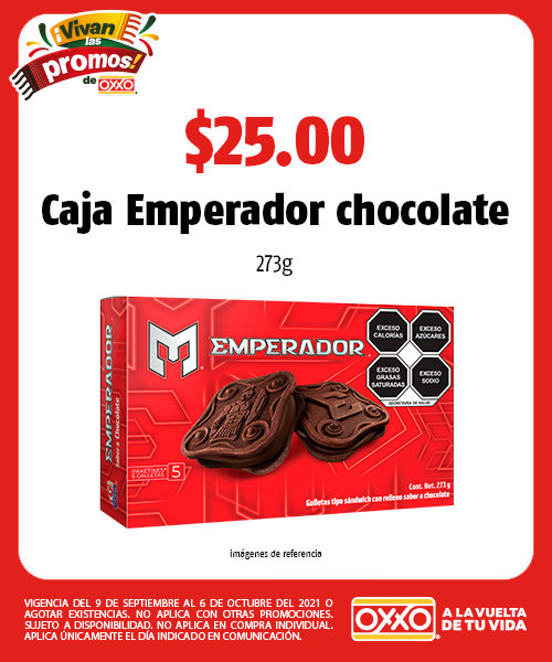 Caja Emperador chocolate