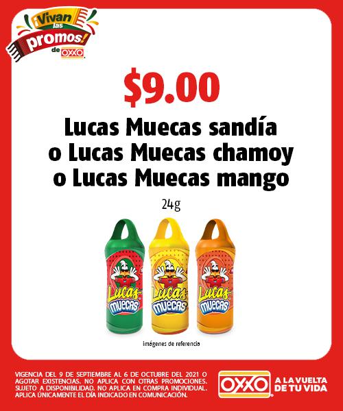 Lucas Muecas sandía o Lucas Muecas chamoy o Lucas Muecas mango