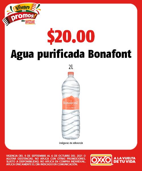 Agua purificada Bonafont