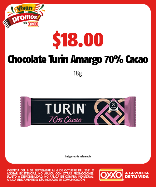 Chocolate Turin Amargo 70% Cacao