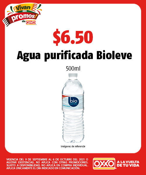 Agua purificada Bioleve