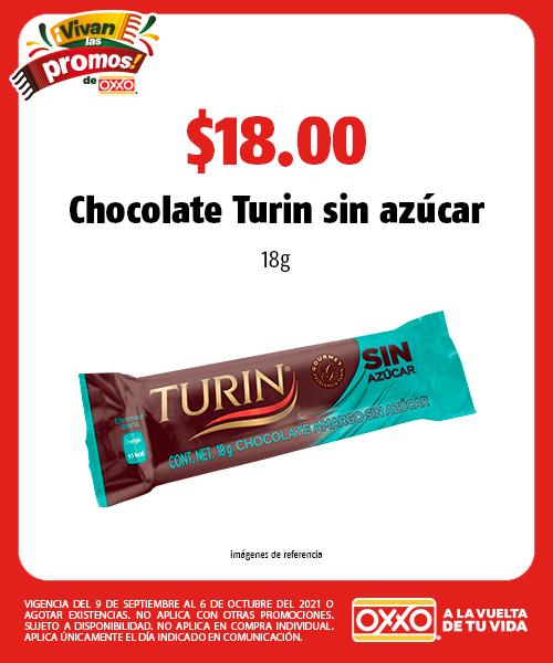 Chocolate Turin sin azúcar