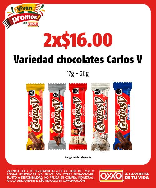 Variedad chocolates Carlos V