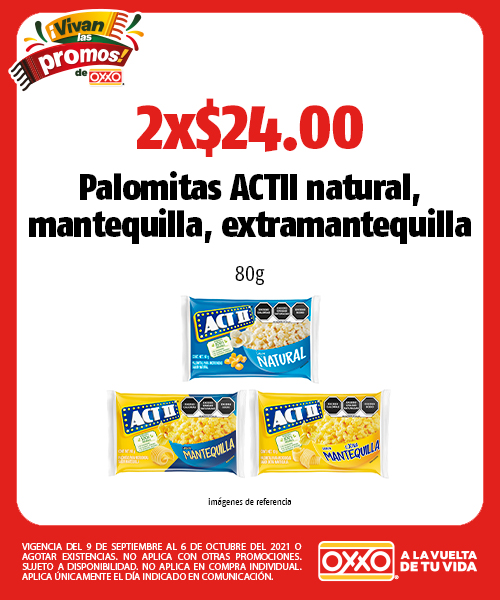 Palomitas ACTII natural, mantequilla, extramantequilla
