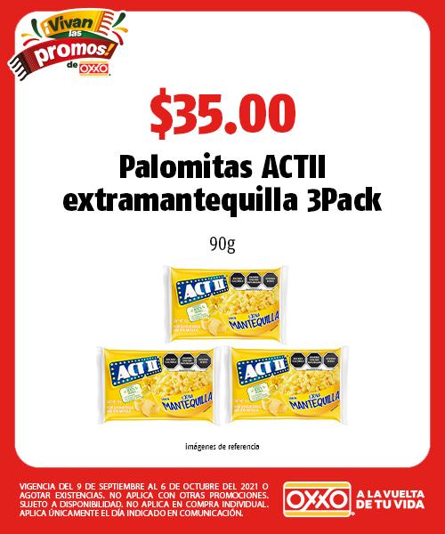 Palomitas ACTII extramantequilla 3Pack