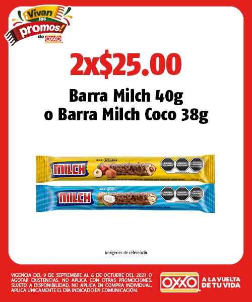 Barra Milch 40g o Barra Milch Coco 38g