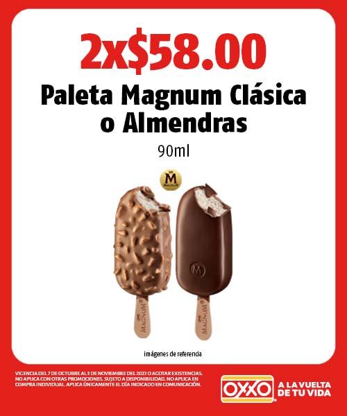 Paleta Magnum Clásica o Almendras