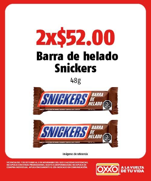 Barra de helado Snickers