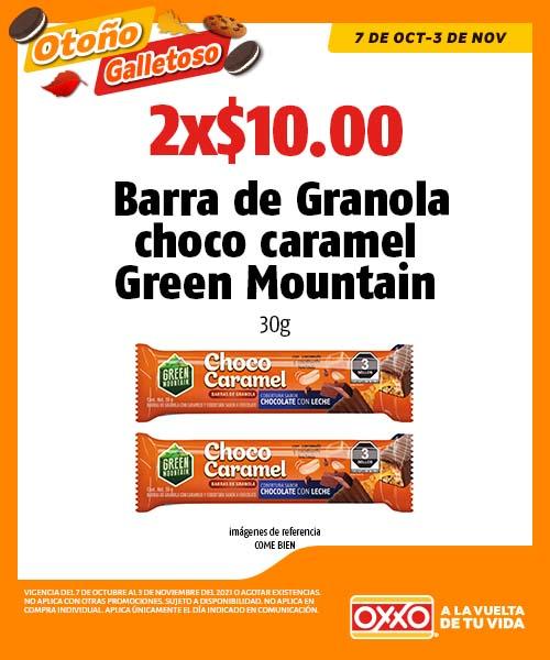 Barra de Granola choco caramel Green Mountain