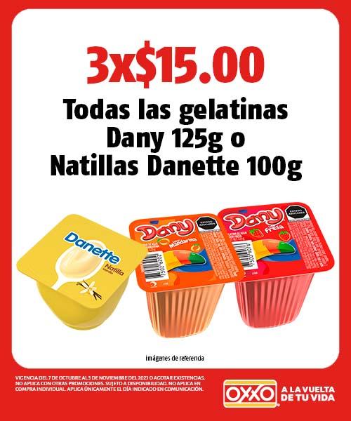 Todas las gelatinas Dany 125g o Natillas Danette 100g