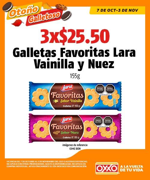 Galletas Favoritas Lara Vainilla y Nuez
