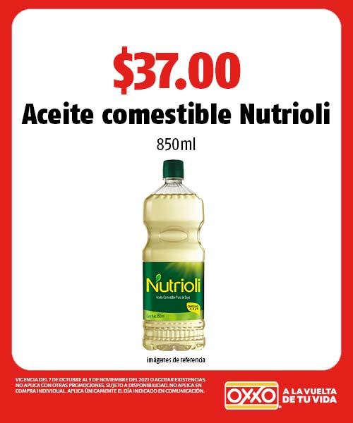 Aceite comestible Nutrioli