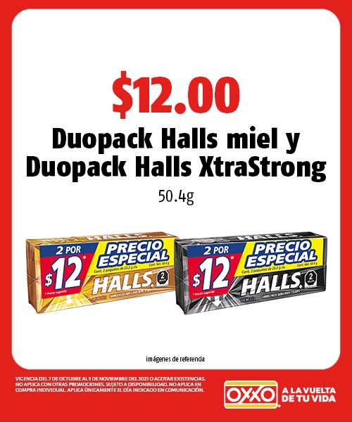 Duopack Halls miel y Duopack Halls XtraStrong