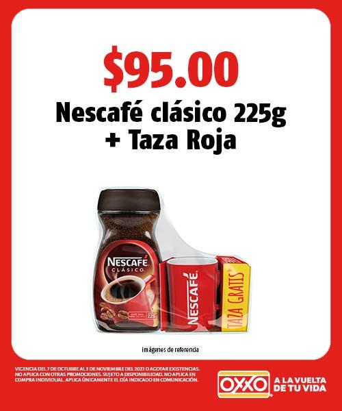 Nescafé clásico 225g y Taza Roja