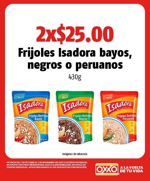 Frijoles Isadora bayos, negros o peruanos