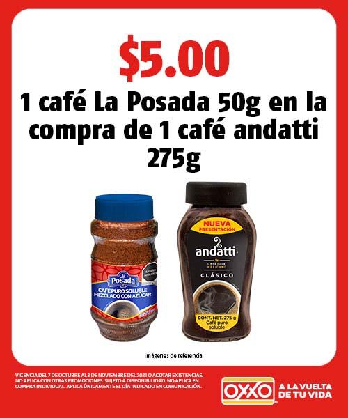 1 café La Posada 50g en la compra de 1 café andatti 275g