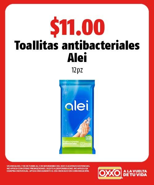 Toallitas antibacteriales Alei