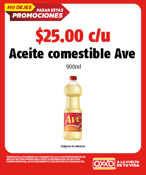 Aceite comestible Ave