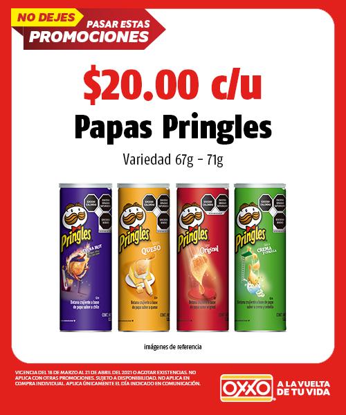 Papas Pringles Variedad 67gr- 71gr