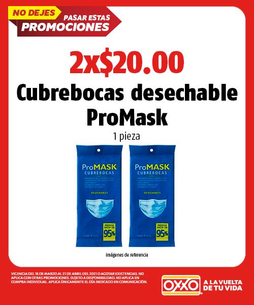 Cubrebocas desechable ProMASK